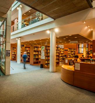 Imatge de la biblioteca d'Olot.