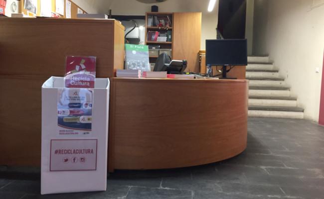 Punt de recollida de llibres de Recicla Cultura, a Can Trincheria.