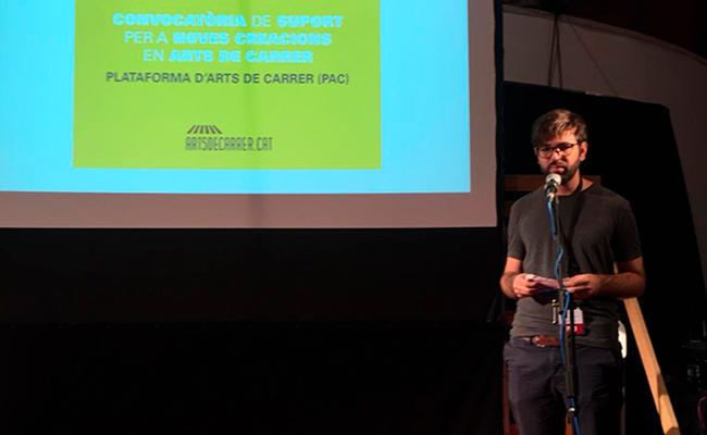 Presentació de la beca d'Arts de Carrer.