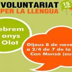 15 anys de Voluntariat per la Llengua a Olot