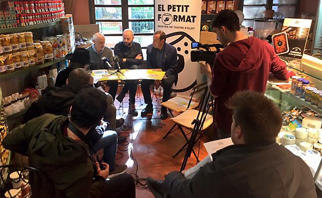 Roda de premsa de presentació de la quarta edició d'El Petit Format.