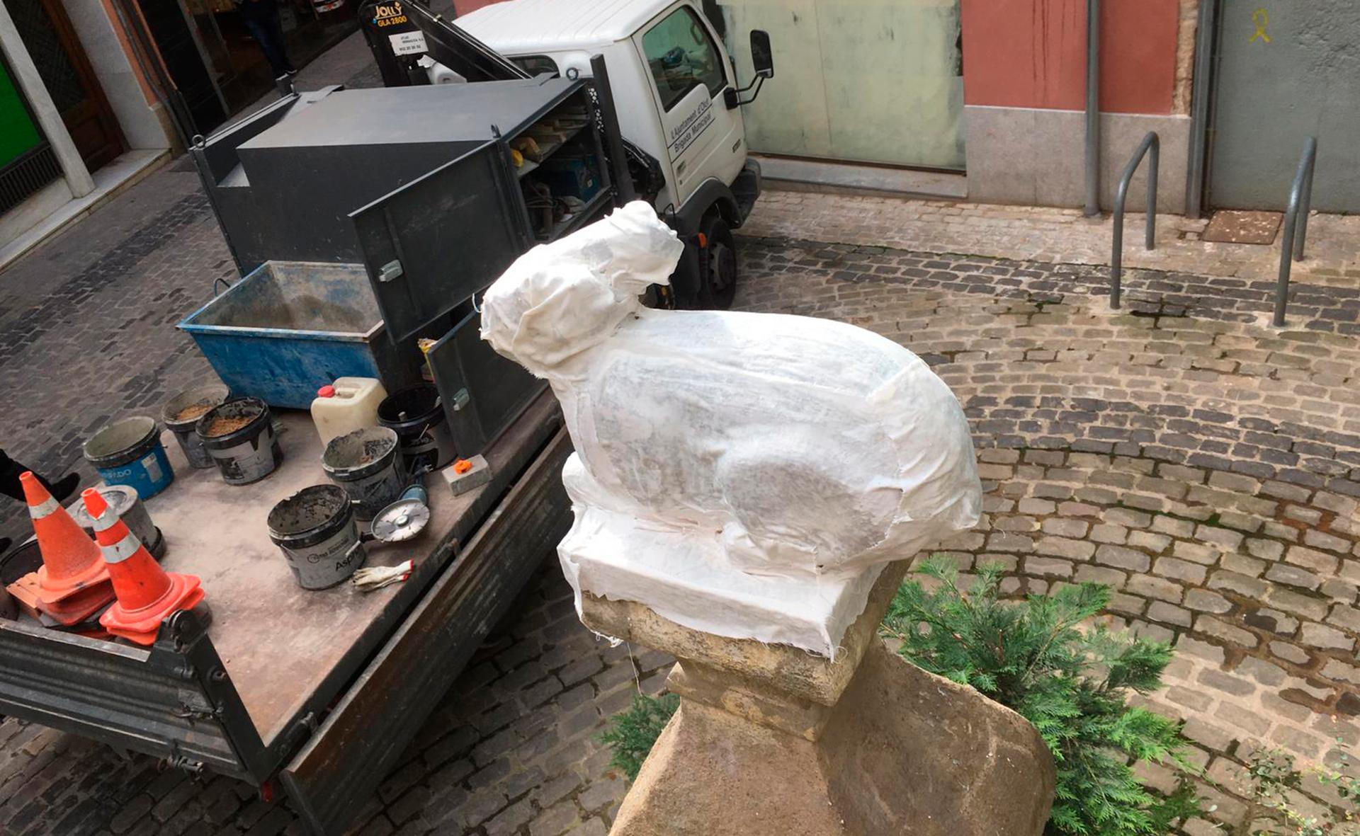 Comença el procés de restauració de la Font del Conill