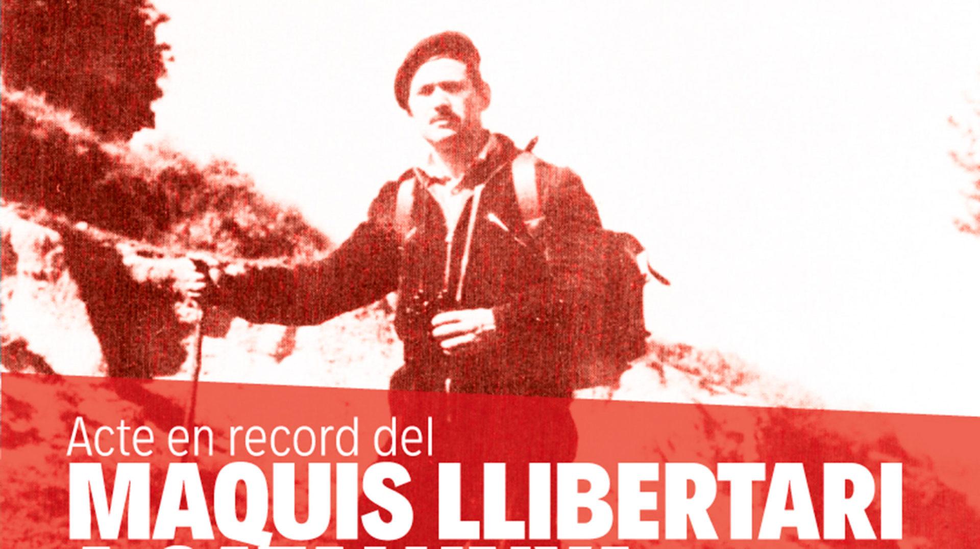 Acte en record dels Maquis Llibertari a Catalunya