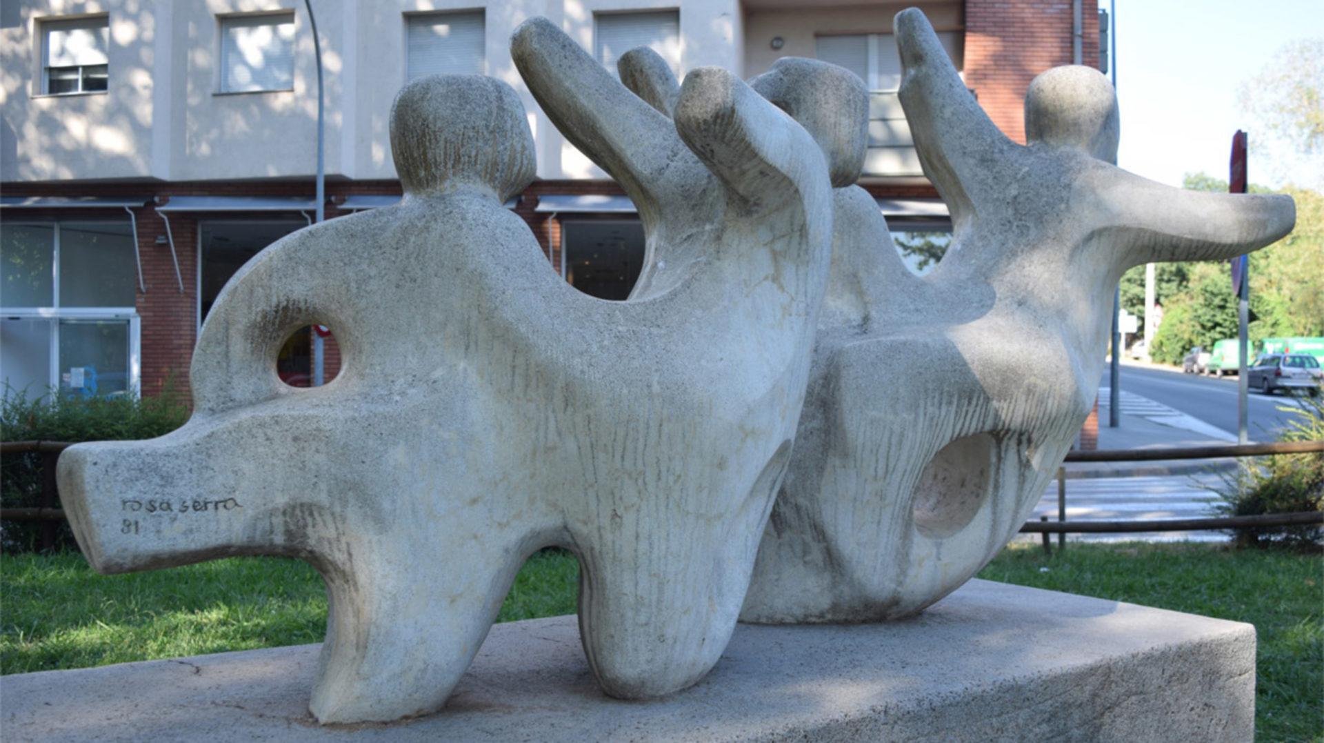 Ruta de les escultures, amb les parelles lingüístiques