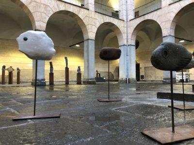 Exposició de Xavier de Torres al pati de l'Hospici.