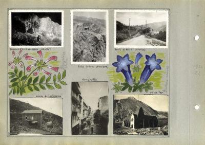 Records d'Excursió, de Josep M. Dou, conservats a l'Arxiu Comarcal de la Garrotxa.
