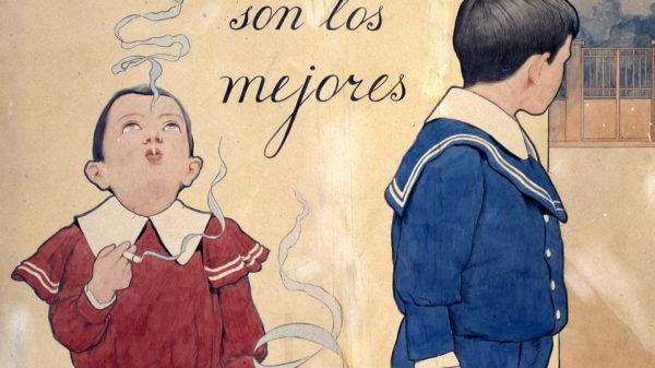 Detall d'un dels cartells de Cigarrillos Paris.