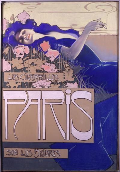 Cartell 'Amor', d'Aleardo Villa, de la col·lecció de Cigarrillos París
