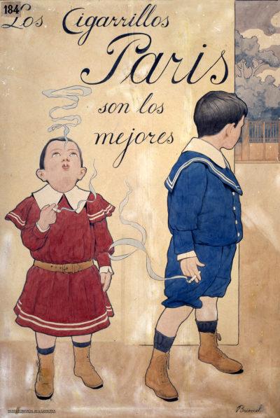 Cartell 'Briomel', de Belmiro de Almeida, de la col·lecció de Cigarrillos París
