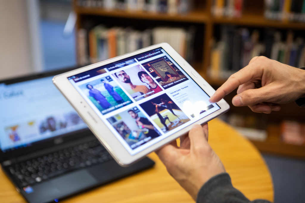 Espai TIC, a la Biblioteca Marià Vayreda. Foto: Martí Albesa
