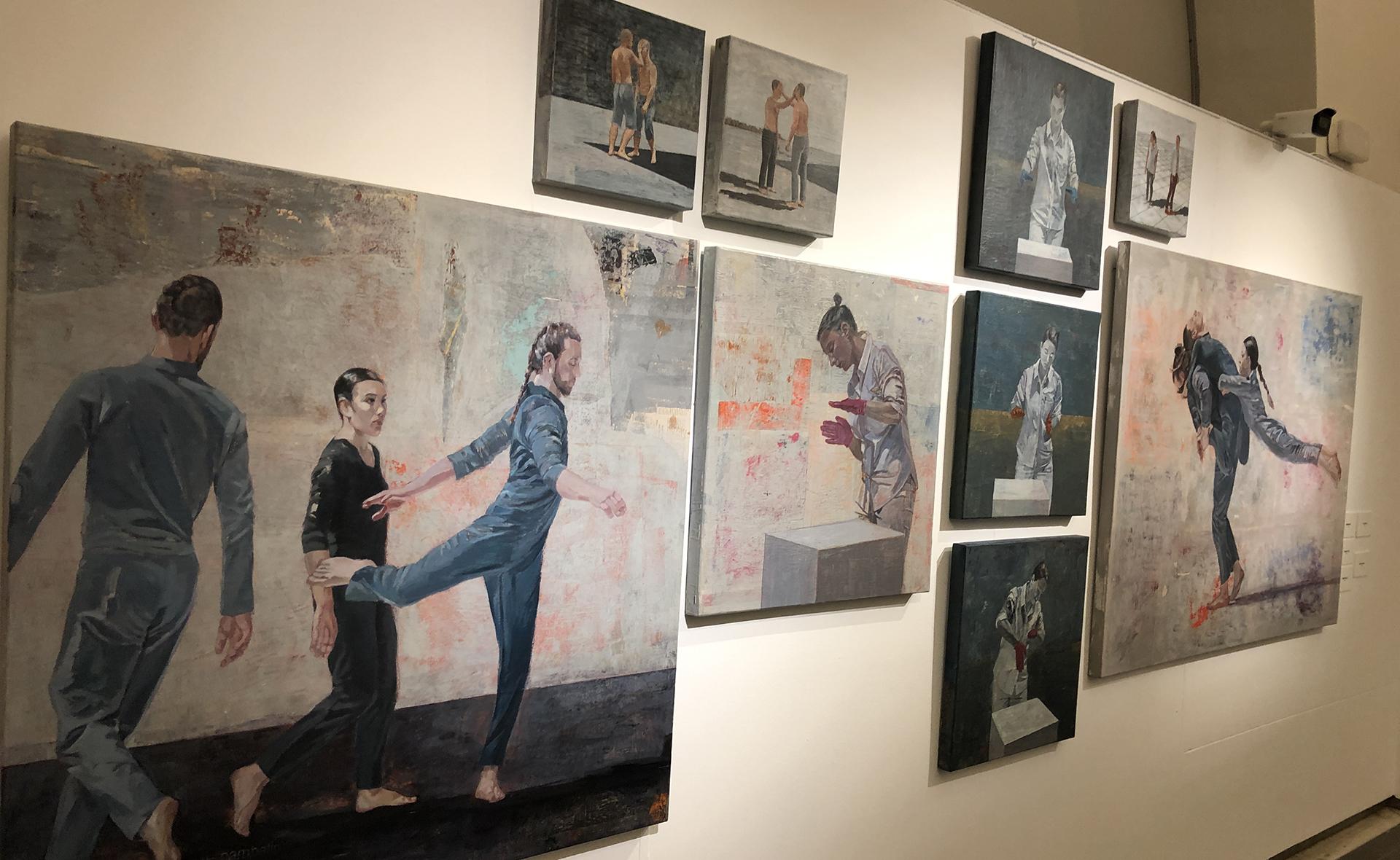 Dolors Rusiñol exposa la seva pintura a la Sala Oberta 2