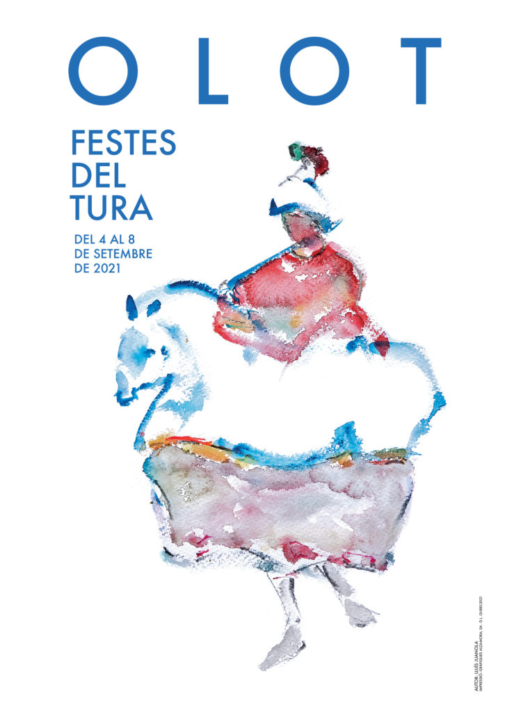 Cartell de les Festes del Tura 2021.